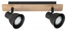Φωτιτιστικό οροφής τύπου σποτ με διπλό διακόπτη Mac 5903